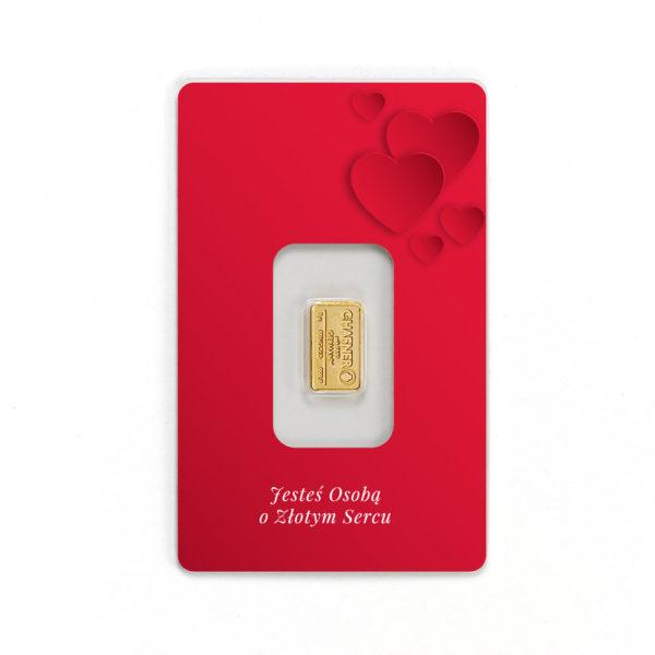 sztabki złota na walentynki, sztabki złota na prezent ślubny