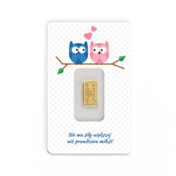 1 gram sztabka złota CertiPack (sówki)