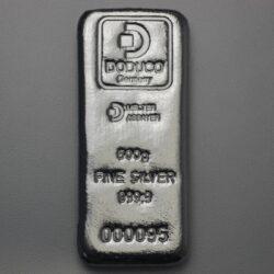 500 gram sztabka srebra LBMA Doduco - 24h