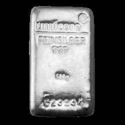 500 gram sztabka srebra LBMA Doduco/Umicore 24h