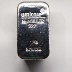 1000 gram/1Kg sztabka srebra CertiPack LBMA Doduco/Umicore od ręki